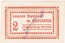 SANTARÉM- CÉDULA DE 2 CENTAVOS DA CÂMARA MUNICIPAL DE SANTARÉM.. - Portugal