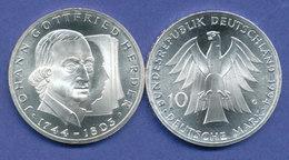 Bundesrepublik 10DM Silber-Gedenkmünze 1994, Johann Gottfried Herder - [ 7] 1949-… : RFA - Rep. Fed. Tedesca