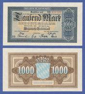 Banknote Bayern 1922, 1000 Mark In Sehr Guter, Kassenfrischer Erhaltung !  - [11] Lokale Uitgaven