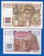 France  2  Billets - 1871-1952 Frühe Francs Des 20. Jh.