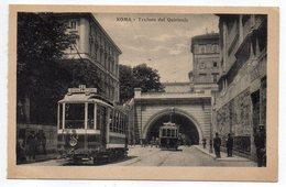 Italie-- ROME--Trafero Del Quirinal (animée ,tramways ) - Transports