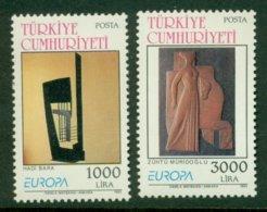 TURKEY 1993 Mi 2984-85** Europa CEPT – Contemporary Art [A738] - 1993