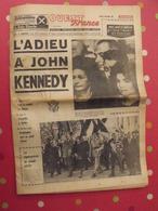 L'adieu à John Kennedy. Ouest-France Du Mardi 26 Novembre 1963. Enquête à Dallas - Kranten