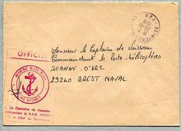 AERO HYERES + 83 HYERES MARINE VAR 1978 - Marcofilia (sobres)