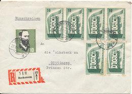 Germany Registered Cover Bockenem 22-2-1957 Good Franked - [7] Repubblica Federale
