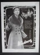 ORIGINAL 1955 MAGAZINE ADVERT FOR WINDSMOOR FASHION - Advertising