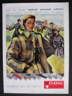 ORIGINAL 1953 MAGAZINE ADVERT FOR WETHERALL FASHION - Advertising
