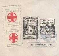 Cusano Milanino. 1983. Marche Municipali Prestampate Segreteria L. 500 + Stampe L. 10, Su Documento - Italie