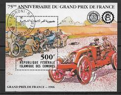 COMORES 1981 FOGLIETTO GRAN PREMIO DI FRANCIA YVERT. BF.32 USATO VF - Isole Comore (1975-...)