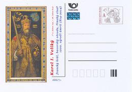 """Rep. Ceca / Cart. Postali (Pre2014/02) Carlo Magno (742-814) Pittore Albrecht Dürer """"Imperatore Carlo Magno"""" (1511/3) - Storia"""