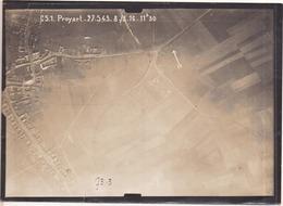 GUERRE 1914-1918 - WW1 - Bataille De La Somme - PROYART - Photo Aérienne Le 8.3.1916 à 11h30 - Guerra, Militares