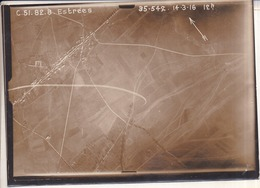 GUERRE 1914-1918 - WW1 - Bataille De La Somme - ESTRÉES - Photo Aérienne Le 14.3.1916 à 12h - Guerre, Militaire