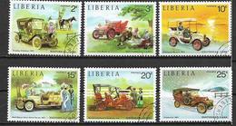 LIBERIA 1973 VECCHIE AUTOMOBILI YVERT. 617-622 USATA VF - Liberia