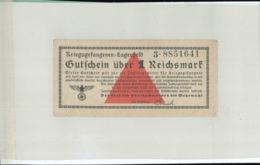 KRIEGSGEFANGENEN LAGERGELD Gutfchein über 1 Reichsmark  (Billet Camp De Prisonniers -guerre 1939-1945 - MAR 2019  131 - [ 4] 1933-1945 : Troisième Reich