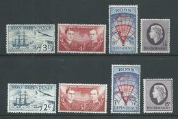 Ross Dependency 1957 & 1967 Definitive Sets Of 4 MLH - Unused Stamps