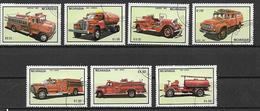 NICARAGUA 1983 MACCHINE DEI POMPIERI YVERT. 1300-1302+POSTA AEREA 1042-1045 USATA VF - Nicaragua