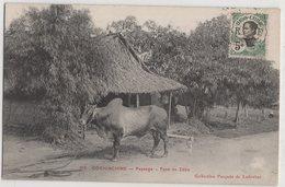 8724 Vietnam Cochinchine Paysage Type De Zebu Stamping Indo-Chine - Vietnam