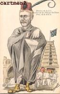 ILLUSTRATEUR JEAN ROBERT ESPERANTO CARICATURE POLITIQUE SATIRIQUE COLONEL POLLEN INDE ELEPHANT CONGRES ESPERANTISTE - Esperanto
