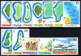 Tuvalu 1977-78 No Watermark Set Unmounted Mint. - Tuvalu