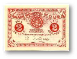 CUBA - Cédula  2 Centavos - 31.12.1919 - M. A. 803 - C/ Selo Branco - Portugal EMERGENCY PAPER MONEY NOTGELD - Portugal
