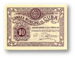 CUBA - Cédula  10 Centavos - 31.12.1919 - M. A. 805 - C/ Selo Branco - Portugal EMERGENCY PAPER MONEY NOTGELD - Portugal
