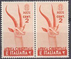 AFRICA ORIENTALE ITALIANA - 1938 - Coppia Di Yvert 1 Nuovi MNH Uniti Fra Loro. - Africa Oriental Italiana