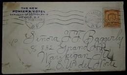 O) 1910 MEXICO, COAT OF ARMS SCT 308 5c Orange, THE NEW PORTER'S HOTEL, TO  WAUKEGAN - Mexico