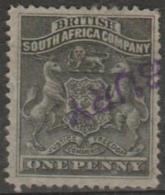 BRITISH SOUTH AFRICA COMPANY - 1891 1d Coat Of Arms. Scott 2. Used - Grande-Bretagne (ex-colonies & Protectorats)