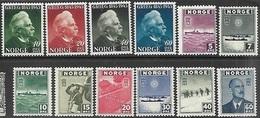 Norway   1943-5   Sc#255-66 Sets  MNH   2016 Scott Value $12.50 - Neufs