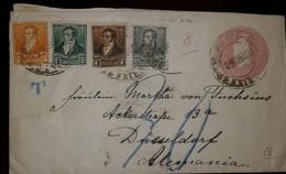 O) 1892 ARGENTINA, RIVADAVIA 1c-RIVADAVIA 2c-RIVADAVIA 3c- RIVADAVIA 1/2c, POSTAL STATIONERY LIBERTY HEAD, VIA NEW YORK - Postal Stationery