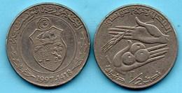 X/ TUNISIA / TUNISIE  1/2 DINAR 1997 - Tunisia