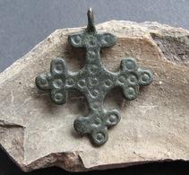 Medieval Europe. Bronze Cross 9-12 Century.Kievan Rus - Archaeology