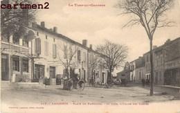 LAUZERTE PLACE DU FAUBOURG AU FOND L'EGLISE DES CARMES 82 TARN-ET-GARONNE - Lauzerte