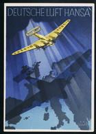 AK/CP Werbekarte  Deutsche Lufthansa  Ungel./uncirc.ca.  1932    Erhaltung /Cond. 2 , Eckknick  Nr. 00647 - 1919-1938: Entre Guerres