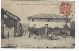 38 - VIRIEU-sur-BOURBRE - Place De Trêve - Route De Voiron - Belle Animation - 1905 (X165) - Virieu