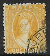 South Africa, Natal, Queen Victoria, 1870, 1d Bright Yellow, Revenue Stamp, Barefoot No 77, Used - Natal (1857-1909)