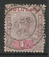 South Africa, Zululand, Queen Victoria, 1894, 1d , SG 21, Used - South Africa (...-1961)