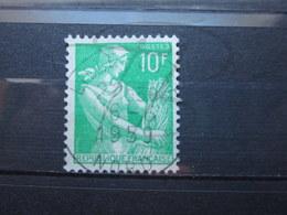 """VEND BEAU TIMBRE DE FRANCE N° 1115A , OBLITERATION """" LILLE-GARE """" !!! - 1957-59 Moissonneuse"""