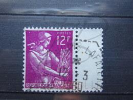 """VEND BEAU TIMBRE DE FRANCE N° 1116 , CACHET HEXAGONAL TIRETE """" PORTE AVIONS LAFAYETTE """" !!! - 1957-59 Moissonneuse"""