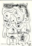 N°6 - Rare DESSIN  DRAWING ORIGINAL Encre Et/ou Feutre ,  -  Signé Dirk J.A. Lissens Djal  ( Srombeek-Bever       ) - Popular Art