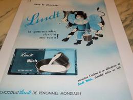 ANCIENNE PUBLICITE CHOCOLAT  DE LINDT  1964 - Afiches