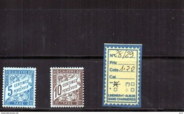 FRANCE TAXE  LUXE** N°28/29 - Portomarken