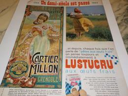 ANCIENNE PUBLICITE PATES ALIMENTAIRES LUSTUCRU 1914-1964 - Affiches