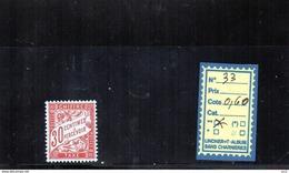 FRANCE TAXE  LUXE** N°33 - Portomarken