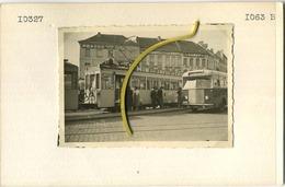 TRAM : MALINES - MECHELEN STATION / VERS BRUXELLES AVRIL 1953  :   9 X 6 Cm ( See Scan For Detail ) AUTOBUS-GARE - Trenes