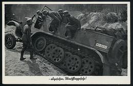 AK/CP Panzer  Halbkette  SoKfz  Wehrmacht    Gel./circ.1938    Erhaltung /Cond. 1-  Nr. 00659 - Guerra 1939-45