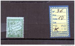 FRANCE TAXE  CHARNIERE* - N°36 - Portomarken