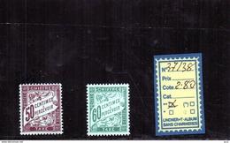 FRANCE TAXE  LUXE** N°37/38 - Portomarken