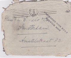 1907: Letter From London To Amsterdam: Crash-cover: S.S. Berlin, Beschädigt - Europe (Other)