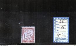 FRANCE TAXE  CHARNIERE* - N°40 - Portomarken